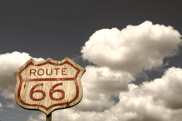 Iconic Route 66 sign
