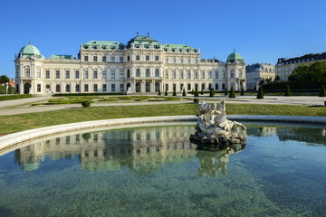 Aluminium Prints Vienna Schloss Belvedere - Wien