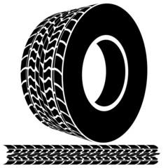 Tire Tread and Tracks