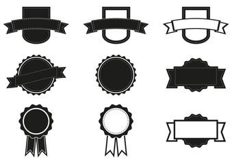 Set of 9 badges