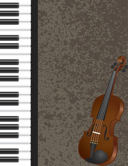 Piano and Violin with Background Illustration