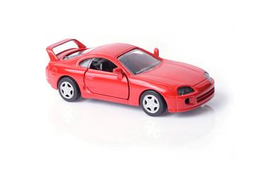 Model car in red.