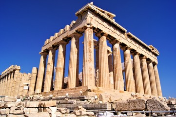 Stores photo Athenes The ancient Parthenon, the Acropolis, Athens, Greece