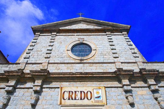 corsica, porto-vecchio : church