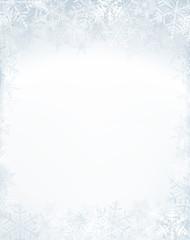Christmas frame with crystallic snowflakes.