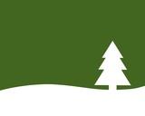einfache weihnachtskarte umriss tannenbaum auf gelb. Black Bedroom Furniture Sets. Home Design Ideas