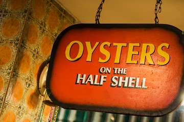Oysters bar on Bourbon street in New Orleans