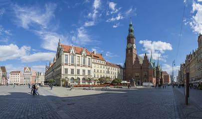 Obraz Wrocławski rynek - panorama - fototapety do salonu