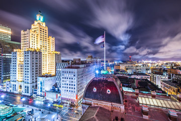 Providence, Rhode Island viewed from above City Hall