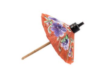 Thai umbrella isolated on white background