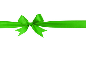handmade green ribbon bow horizontal border