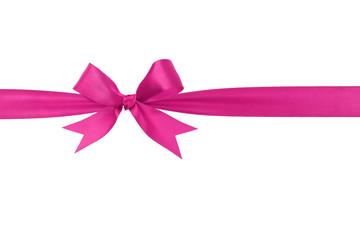 handmade purple ribbon bow horizontal border