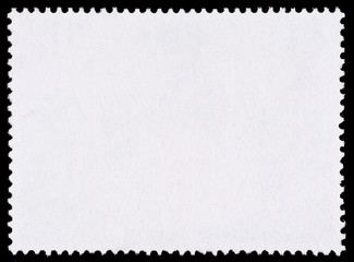 Blank Postage Stamp Isolated on Black