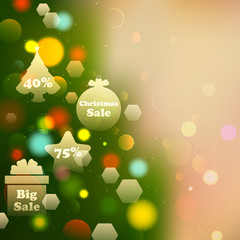 Christmas Offer on Bokeh Effect Background