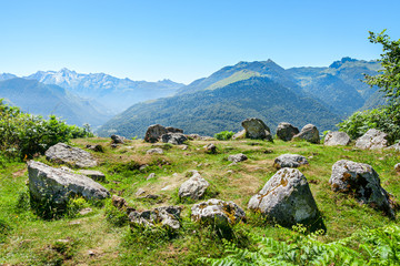 Prehistoric Cromlech in the French Pyrenees Wall mural
