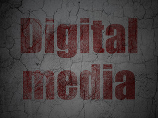 Advertising concept: Digital Media on grunge wall background