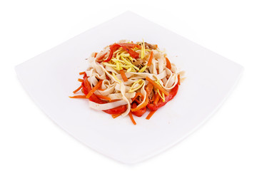 Pasta salad with capsicum