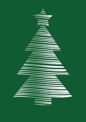 stylized vector Christmas tree