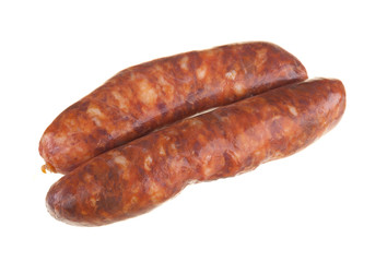 sausage isolated on a white background