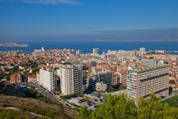 View of Marseilles city and the Gulf of Lion