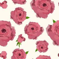 Rose pattern. Seamless flower background pattern.