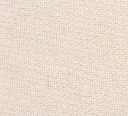 Closeup of white natural linen texture.