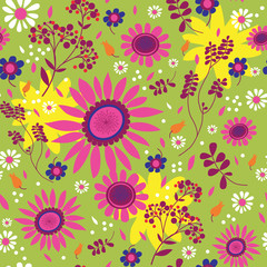 Seamless texture with flowers.