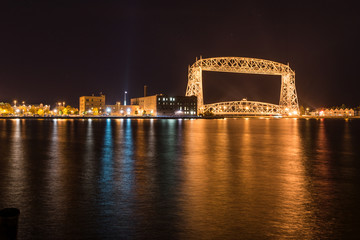 Duluth skyline at night