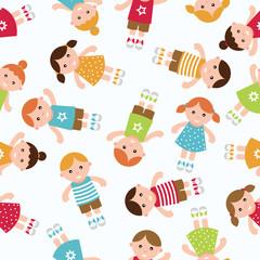 Kids seamless pattern background
