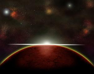 Weltraum Planeten Mars Zukunft Astronomie Sonne