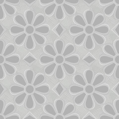 Seamless gray floral background