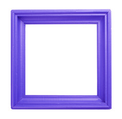 Purple wooden frame isolated on white background