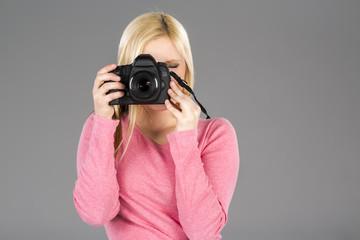 Model With Modern Camera