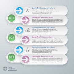 Infographics Vector Background FAQ