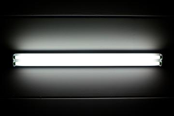 Fototapeta fluorescent mounted on wall obraz