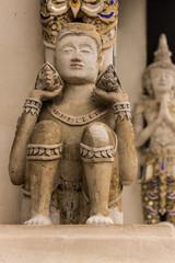 Thai angel as Old Ubosot in Wat Buak Krok Luang , Chiangmai Thai
