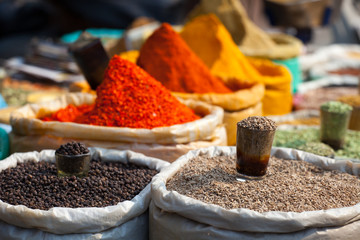 Keuken foto achterwand India Traditional spices market in India.