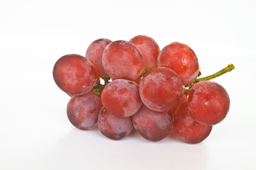 Cluster of ripe juicy red grapes