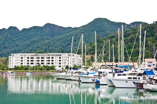 Telaga harbour Park for parking Yacht in Langkawi