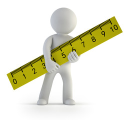 3d small people - ruler