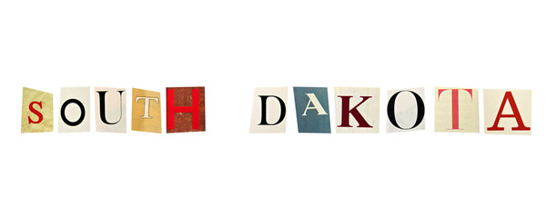 South Dakota word formed with magazine letters