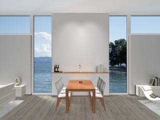 Esszimmer Interior mit Fenstern