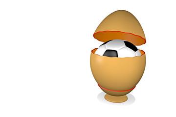 Überraschungsei mit Fussball