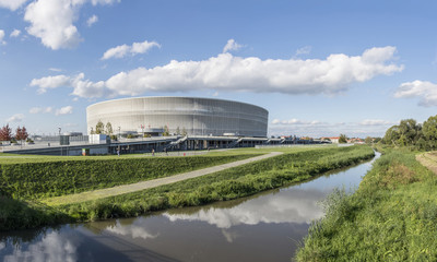 Fotorollo Stadion Soccer stadium in Wroclaw city (Poland)