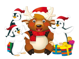 Christmas bunch - illustration for the children