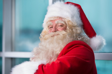 Santa Claus closeup portrait indoors