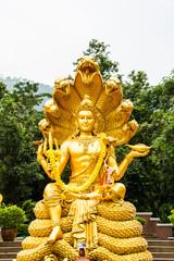 wisnu or narayana statue in huytungtao chiangmai Thailand