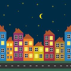 illustration of night city