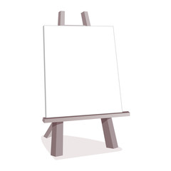 Vector wooden easel