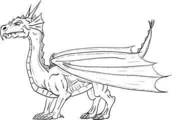 dragon standing